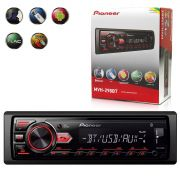 Auto Radio Pioneer Mvh-298Bt 1 Din Bluetooth Usb Mp3 Am Fm