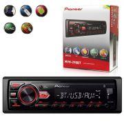 Auto Radio Pioneer Mvh-298Bt 1 Din Bluetooth Usb Mp3 Am Fm