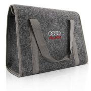 Bolsa Organizador Porta Malas Audi Grafite