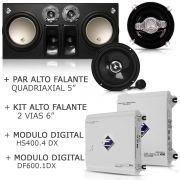 Caixa Cxp12-td2n 12 + Módulos + Kit 2 Vias 6 + Par Falante 5