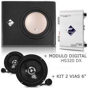 Caixa Dutada Xs200-slim + Módulo Hs320 Dx + Kit 2 Vias