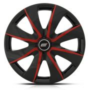 Calota Esportiva Aro 13 Prime Black Red 4X100 4X108 5X100