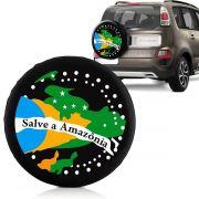 Capa Estepe Fox Ecosport Aircross Doblô Com Cadeado Salve A Amazonia