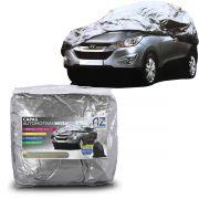 Capa para Cobrir Carro Impermeável Lateral Alta com Forro Central P M G
