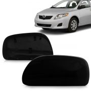 Capa Retrovisor Corolla 2008 2009 2010 2011 2012 2013 2014 Black Piano