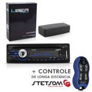 CD Player Uber Usb Aux Radio Mp3 + Controle Longa Distância SX2 Azul