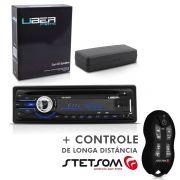 CD Player Uber Usb Aux Radio Mp3 + Controle Longa Distância SX2 Preto