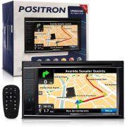 Central Multimídia 2 Din 6,2´´ Sp8920Nav Navegador Gps Espelhamento Iphone Bluetooth Usb Camera De Ré