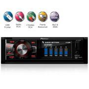 Dvd Player Pioneer 1 Din Avh 7880Av Usb Rca Aux 3´´