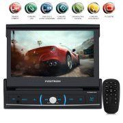 Dvd Player Retrátil 7 Polegadas 1Din Sp6520Link Usb Bluetooth Entrada Para Câmera De Ré