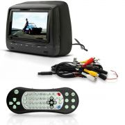 Encosto De Cabeça Com Monitor De 7? Dvd Player Com Game Usb Sd Touch Button Preto