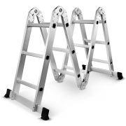 Escada Multifuncional 4x3 Alumínio 12 Degraus