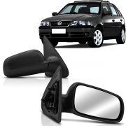 Espelho Retrovisor Externo Gol Parati Saveiro 00 01 02 03 04 05 06 07 08 Portas Controle Manual