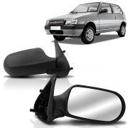 Espelho Retrovisor Externo Uno 2004 2005 2006 2007 2008 2009 2010 2011 4 Portas Controle Manual