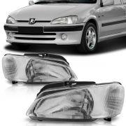 Farol Peugeot 106 97 98 99 2000 2001 2002 2003 Cromado