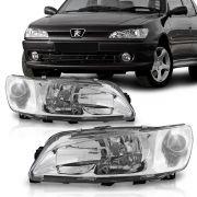 Farol Peugeot 306 98 99 2000 2001 Cromado