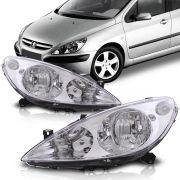 Farol Peugeot 307 2001 2002 2003 2004 2005 2006 Foco Duplo Cromado