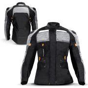 Jaqueta Moto Feminina Parka Texx Armor Protetor Costas Ombro Cotovelo Refletivo Laranja