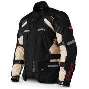 Jaqueta Moto Force III Impermeável Protetor Costas Ombro E Cotovelo Bege