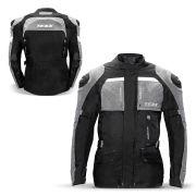 Jaqueta Moto Masculina Parka Texx Armor Protetor Costas Ombro Cotovelo Refletivo Cinza