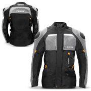 Jaqueta Moto Masculina Parka Texx Armor Protetor Costas Ombro Cotovelo Refletivo Laranja