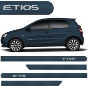 Jogo Friso Lateral Etios Hatch Sedan 2012 2013 2014 2015 2016 Azul Techno