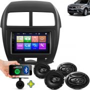Kit Multimidia Mp5 ASX 2011 2012 2013 2014 2015 2016 + Moldura Camera Ré Pares Falantes 6