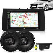 Kit Multimidia Mp5 Audi A3 Sportback 09 A 12 + Moldura Camera Ré Sensor Par Falante 6