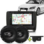 Kit Multimidia Mp5 Audi TT 06 A 12 + Moldura Camera Ré Sensor Par Falante 6