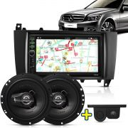 Kit Multimidia Mp5 Classe C 05 A 07 + Moldura Camera Ré Sensor Par Falante 6