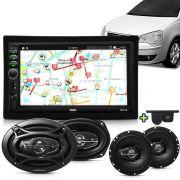 Kit Multimidia Mp5 Fiesta Bora Passat 99 A 12 + Moldura Camera Ré Sensor Par Falantes 6