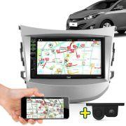 Kit Multimidia Mp5 Hb20 Hb20s Hb20x 2012 2013 2014 2015 + Moldura Sem Audio Cinza Câmera Ré Sensor