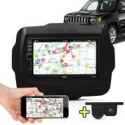 Kit Multimidia Mp5 Jeep Renegade 2015 2016 + Moldura Câmera Ré Sensor
