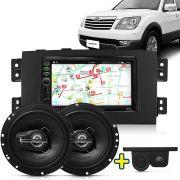 Kit Multimidia Mp5 Kia Mohave 08 A 15 + Moldura Camera Ré Sensor Par Falante 6