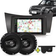 Kit Multimidia Mp5 Lifan 320 2010 2011 2012 + Moldura Preto Camera Ré Sensor Par Falante 6
