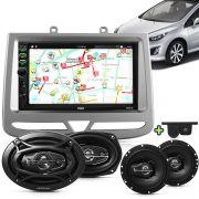 Kit Multimidia Mp5 Peugeot 308 408 12 A 16 + Moldura Cinza Camera Ré Sensor Par Falantes 6