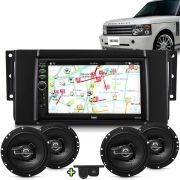 Kit Multimidia Mp5 Range Rover 06 A 16 + Moldura Camera Ré Sensor 2 Pares Alto Falantes 6