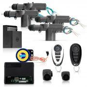 Kit Trava Eletrica 4 Portas + Alarme Universal Bloqueador Anti Furto Travamento Negativo