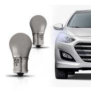 Lampada Incandescente Automotiva Py21W Ambar Prateado Iridium Stars Bau15s