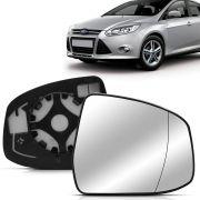 Lente Espelho Retrovisor Com Placa Focus 2014 2015 2016