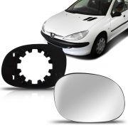 Lente Espelho Retrovisor Peugeot 206 207 99 00 01 02 03 04 05 06 07 08 09 10 11 12 13 14