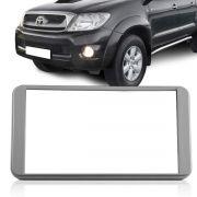 Moldura DVD 2 Din Corolla Hilux SW4 SRV 2003 2004 2005 2006 2007 2008 2009 2010 2011 Cinza