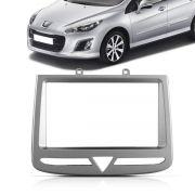 Moldura DVD 2 Din Peugeot 308 408 2012 2013 2014 2015 2016 Cinza