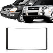 Moldura DVD 2 Din Sportage Hyundai Tucson 2008 2009 2010 2011 2012 2013 2014 2015 2016