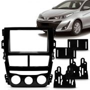 Moldura DVD 2 Din Yaris 2018 2019 Black Piano