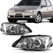 Par Farol Astra 2003 2004 2005 2006 2007 2008 2009 2010 2011 Foco Duplo Cromo Onix