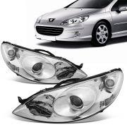 Par Farol Peugeot 407 2005 2006 2007 2008 2009 Eletrico