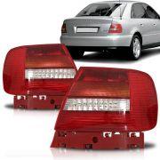 Par Lanterna Audi A4 Sedan 98 99 2000 2001 Bicolor