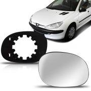 Par Lente Espelho Retrovisor Peugeot 206 207 99 00 01 02 03 04 05 06 07 08 09 10 11 12 13 14