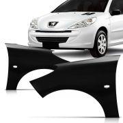 Paralama Dianteiro Peugeot 207 2008 2009 2010 2011 2012 2013